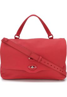 Zanellato Bolsa Carteiro Com Textura - Vermelho