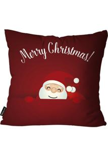 Capa Para Almofada Mdecor De Natal Merry Vermelho