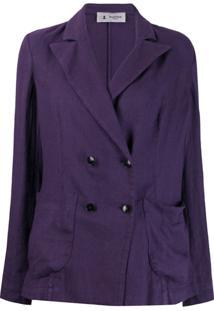 Barena Peaked Lapel Blazer Jacket - Roxo