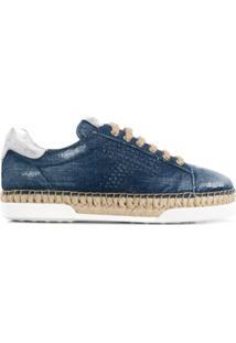 ef06a0172 Tênis Couro Jeans feminino   Shoelover