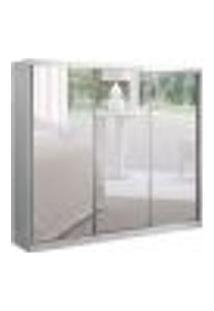 Guarda-Roupa Casal Com 3 Espelhos Dhaka Ii 3 Pt 2 Gv Branco