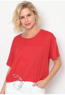 Blusa Lisa Com Caneleta- Vermelhalevis