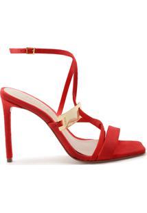 Sandália Curves Hardware Red   Schutz