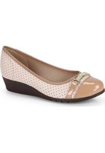 Sapato Anabela Moleca Marfim Marfim