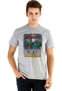 Camiseta Ouroboros Manga Curta Ramones - Masculino-Cinza