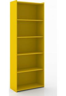 Estante Para Livros 4 Prateleiras Esm201 Retrô Movelbento Amarelo