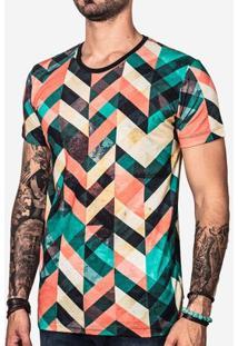 Camiseta Hermoso Compadre Geometrica Color Masculina - Masculino-Preto
