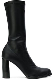 Stella Mccartney Bota Com Salto Largo - Preto