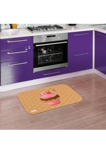 Tapete De Cozinha Mdecore Cupcake Marrom 40X60Cm