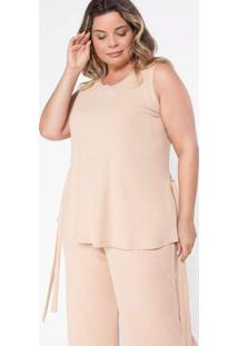 Regata Almaria Plus Size Pianeta Malha Canelada Be