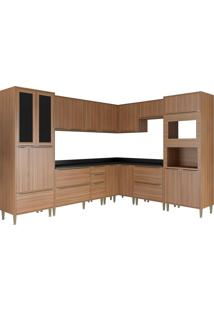 Cozinha 10 Módulos 19 Portas 4 Gavetas Nogueira Multimóveis