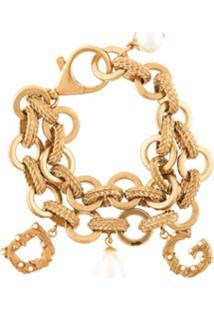Dolce & Gabbana Pulseira Com Corrente - Dourado