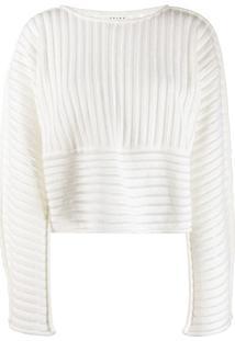 Falke Suéter Com Recorte Texturizado - Branco