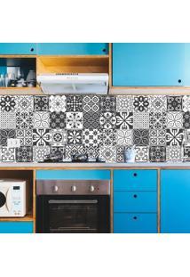 Adesivo Azulejos Cozinha Retrô Preto (15X15Cm)