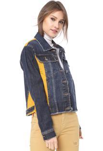 Jaqueta Jeans Ellus Mixed Azul/Amarela