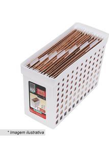 Arquivo Estreito Com Recortes- Branco- 27,1X16,4X43Cordene