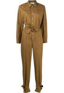 Ba&Sh Chris Belted Jumpsuit - Neutro