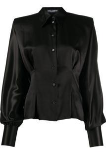 Dolce & Gabbana Blusa Estruturada Com Botões - Preto