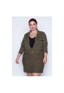 Jaqueta Almaria Plus Size Kayla Lisa Verde