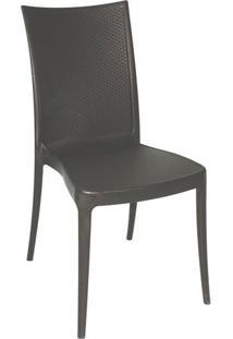 Cadeira Plástica Monobloco Laura Marrom Tramontina 92032/109