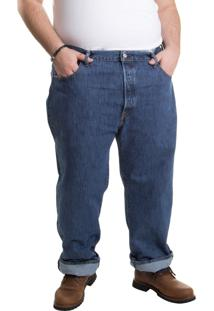 Calça Jeans Levis 501 Original Big & Tall Escura