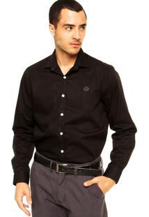 Camisa Forum Bordado Preto