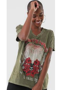Camiseta Colcci Aplicações Verde - Kanui