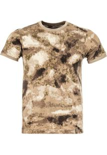 Camiseta Invictus Tech Camuflada A/Tacs Au Marrom