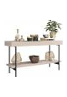Aparador Decorativo Com Espelho Para Sala De Estar Stand Industrial B01 Off White - Lyam Decor