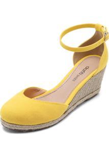 Sandália Dafiti Shoes Espadrille Amarela