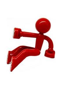 Porta-Chave Em Polipropileno Prana Com 4 Imãs - Vermelho