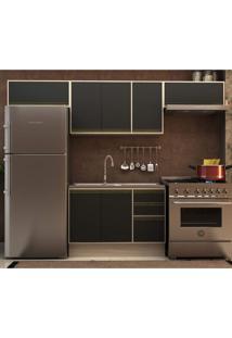 Cozinha Completa 4 Peças 7 Portas Safira Siena Móveis