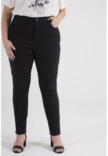 Calça Skinny Em Sarja Curve & Plus Size