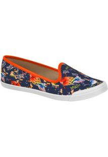 Sapatilha Feminina Slipper Estampa Tropical Moleca 5109412