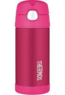 Garrafa Térmica Infantil Funtainer 355Ml - Feminino-Rosa Escuro