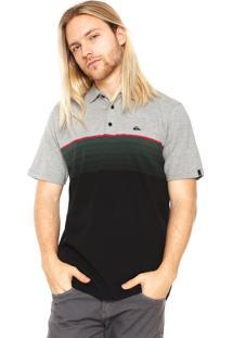 Camisa Polo Quiksilver Fullgaz Cinza