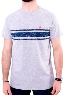Camiseta England Polo Club Masculina - Masculino-Cinza Claro