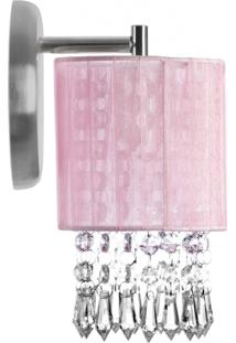 Arandelas Redonda Cganza Super Elegante Rosa