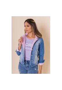 Jaqueta Jeans Forrada Nadia