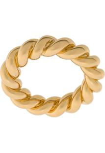 Isabel Lennse Wide Twisted Ring - Dourado