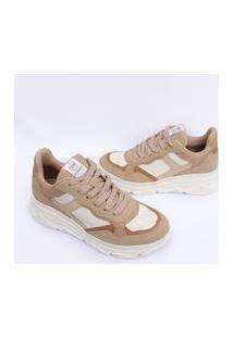 Tenis Via Marte Feminino Sneaker Chunky Slip On Sapatenis 1030 Nude