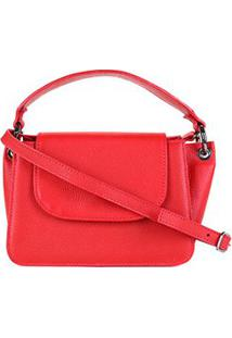 Bolsa Couro Shoestock Tiracolo Feminina - Feminino-Vermelho