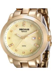 Relógio Seculus Analógico 20422Lpsvda1 Feminino - Feminino-Dourado
