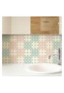 Papel De Parede Autocolante Rolo 0,58 X 5M - Azulejo Coração 246894295