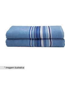 Toalha De Banho Vegas- Azul Claro & Branca- 60X130Cmcamesa