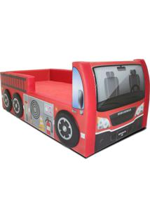 Cama Carro Bombeiro Vermelho