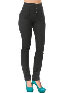 Calça Jeans Escuro Cintura Alta
