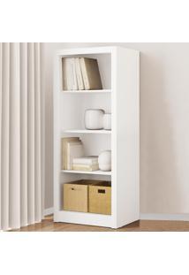 Estante Para Livros 3 Prateleiras Branco Me4137 - Tecno Mobili