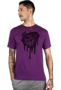 Camiseta Bleed American Shine Diamond Roxo