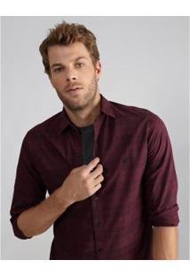 Camisa Aviator Slim Fit Stuart Masculina - Masculino-Vinho
